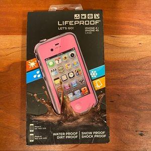 Pink Lifeproof iPhone Case